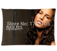 alicia keys covers - Custom Your Photos Comfortable Pillowcase alicia keys new york Pillow case Covers Standard Size quot x30 quot Inch
