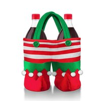 Wholesale Cute Multifunction Christmas Gift Shopping Bags Beverage Candy Bag Christmas Decoration Great Christmas Tree Hanging Ornament H16011