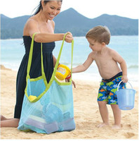 baby golf clothing - DHL Free Large Space mesh bags Children Beach sandy toy collecting bags Toys Clothes Towel outdoor shoulder Bags baby handbag totes BAG1