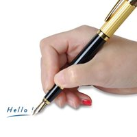 Wholesale New HERO Medium Nib Fountain Pen Luxury Black Gold Stainless Gifts good quality pens black fountain pen