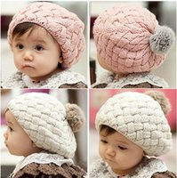 Wholesale Baby Hat Kids Baby Photo Props beanie faux rabbit fur gorros bebes crochet beanie toddler cap for months years old girl
