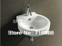 bathroom basin wall hung - TW3200 Ceramic Vessel Sink Bathroom Round Bowl Wash Basin Bathroom Basin Sink
