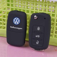 Wholesale silicone black car key cover case for Volkswagen VW polo b5 b6 golf jetta mk6 tiguan Gol CrossFox Plus Eos