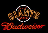 Wholesale Revolutionary Neon Budweiser SF Giants Beer Bar Neon Signs Pub Bars Neon Light Beerbar Sign quot x15 quot Available multiple Sizes