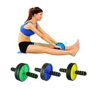 Wholesale Dual Ab Wheel For Abs Abdominal Roller Workout Exercise Fitness Blue