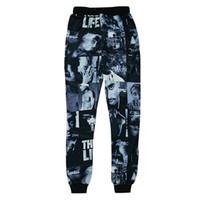 Wholesale Raisevern new tupac pac D joggers trousers d print hip hop star Tupac THUG LIFE pants harajuku running sportswear sweatpants