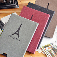 Wholesale Creative Fashion Eiffel Tower Album Paris Vintage Antique DIY PHOTO ALBUM Scrapbook Paper Baby Wedding Picture Pages cm jk4003