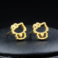 Stud animal freight - Companies Looking For Distributer New Products gold kitty cat Earring With Free freight E0093