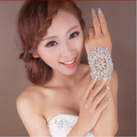 armlets - Hot sale Bridal Bracelet clear crystal hand cuff multi fuction rhinestone bridal Armlets wedding accessories XI10 accessories vogue
