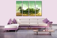 Cheap Home Decor HD Print Modern ait art painting on canvas(No frame)fantasy abstract art 10x25inchx4