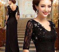 Wholesale Black Sexy V neck Long evening dress Prom dresses Vestido de festa longo evening dresses