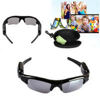 Nueva llegada de la venta caliente de las cámaras digitales de audio espía ocultos vídeo DV DVR de las gafas de sol del deporte de la videocámara grabadora por conducción al aire libre de DHL