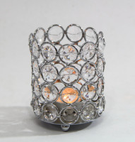 Wholesale Wedding decoration Crystal beaded bling votive candle holder tealight holder HWB L