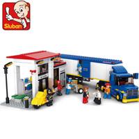 best heavy duty truck - Sluban M38 B0318 D DIY Construction Heavy Duty Van Truck Building Block Bricks Compatible With Legominifigures Best Gift for Child