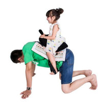 Wholesale Parenting Games Novelty Daddle Saddle Ride Toys Happy Family Play with you Dad