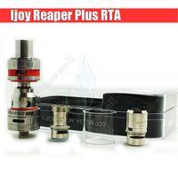 Original iJoy Reaper Plus Atomiseur RTA Sub ohm Débardeur Système de remplissage latéral Delrin Drip Tips Double flux d'air inférieur RDA e cigs Mods vapeur DHL