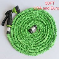 Wholesale 2014 NEW Retractable FT Garden Water hose for Car pipe with Metal Gun Blue Green