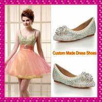 ballroom wedding dress - Cheap Wedding Bridal Shoes Flats For Brides Women s Ladies Ballroom Prom Evening Party Dance Sparkling Pearl Crystal Rhinestone Dress Shoes