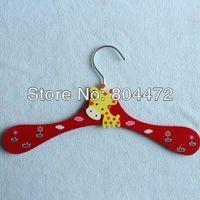 Wholesale Childrens Clothes Hangers Baby Pants clip Cute Cartoon Wooden Clothes Rack Non Slip Firm Durable