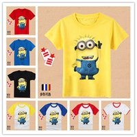 Wholesale boys despicable me minions t shirt tops summer short sleeve t shirt boys kids tshirts cartoon movie cotton clothes t shirts new
