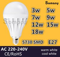 Wholesale E27 Led Lamp W W W W W W W V V V CE E27 Bulbs Light SMD Led Spotlight Lamps Warm Cool White Led Bulb