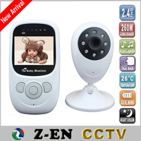 Wholesale 2 inch Color Video Wireless Baby Monitor Nanny Baba Electronic Camera Night Vision M IR LED Temperature Portable Monitor