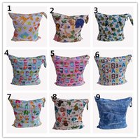 baby bear diapers - 25 Style Top Grade Diaper Bag Mummy Bag baby Diaper Bag Waterproof Nursery Bag Bear Dot Stripes Animal Zoo Mama Bag Combination K4322