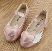 red wing shoes - Heart Wing Girls Princess Shoes Spring Children Shoes Childs Girls Shoes Magic Type Flat Cute Kids Shoes Red Pink Gold Size M3531