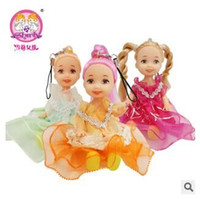 3-4 Years baby toy phone - Selling Barbie toys for children confused doll phone small pendant