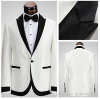 Cheap Wholesale - white Groom Suit Formal Tuxedos For Men Wedding suits New Custom Made