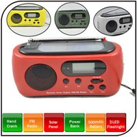 solar radio flashlight - Dynamo Solar Radio Flashlight LED AM FM Portable Rechargeable with Mobile Charger White Red Green Yellow RD612