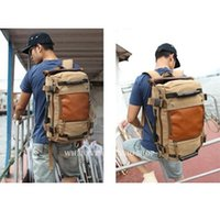 Wholesale men s canvas army style shoulder bag Travel tactical backpacks military ways_M210