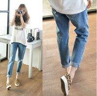 women jeans wear - Hot Fashion Women Trousers Causal Capris Pencil Pants Vintage Ripped Denim Jeans Rasgado Hip Hop Punk Wear