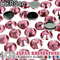 Wholesale Light Rose Nail Crystal Rhinestone SS6 SS8 SS12 SS16 SS20 SS30 Resin Non Hotfix FlatBack stones glitters for Glue DIY Phone Case