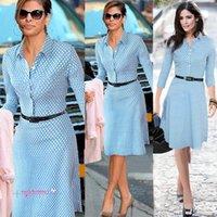 ladies casual wear - 2015 NEW Spring Summer Women Casual Winter Dot Long Dresses Fashion Work Wear Blue Denim Dresses Women Office Dress for Ladies Women Wear