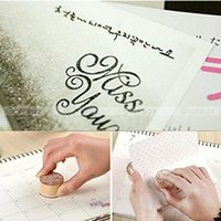 alphabet ink stamps - DIY Handwriting Blessing Scrapbooking Alphabet Stamps Vintage Wood Rubber Craft Ink Pad Stamp Wax Seal Stamp