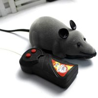 Wholesale Colors RC Wireless Remote Control Rat Mouse Toy For Cat Dog Pet Black Grey Brown