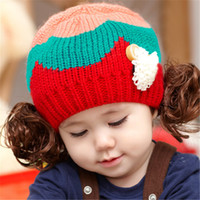 baby boy wigs - 110PCS Korea Style Multicolor Wave Wig Knit Beanie New Collection Best Baby Caps Hats Colors Show you