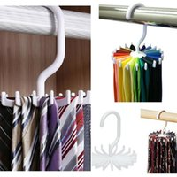 Wholesale 1PCS Adjustable Hooks Rotating Belt Scarf Rack Organizer Men Neck Tie Hanger Holds