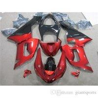 Cheap Year 2005 2006 Kawasaki Fit Motorcycle Fairing Body Kit ZX6R 05 06 ZX-6R 636 Ninja Red Black No Letter Motorbike Parts Custom Cowling