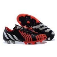 Wholesale 2015 Hot Predator Instinct FG AG soccer boots for men football shoes Black White Solar Red men soccer shoes39
