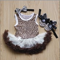 cotton baby romper - Infants Years New Arrival Hot Sale Childrens Romper Girls Baby Cotton Fashion Tutu Skirts Toddlers Three Piecess Of Hairband Shoes Skirt