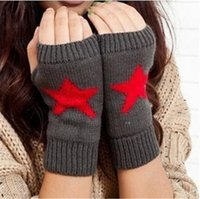 Wholesale Hot Sale Winter New Fashion Unisex Hand Arm Crochet Knit Stretchy Winter Warm Warmer Fingerless Gloves For Women Men MOQ Pair