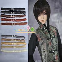 Wholesale cm Doll short straight DIY fringe hair wigs brown black khaki color hair for BJD SD doll