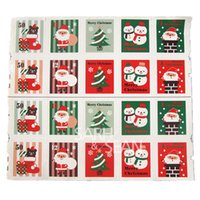 Wholesale FKT061 Happy Christmas stamps shaped baking sticker cup gift box sticker baking package cake box decoration cm