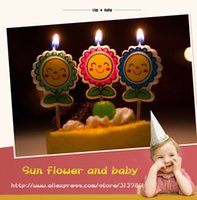 Wholesale The sun spends cartoon candle the new child s birthday candle a lovely cake a lovely cake