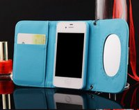 Cheap Iphone 6 Case Luxury Brand CC Flip Leather Mirror Wallet Cases Cover for Apple iPhone6 6g 6s plus 6 plus 5 5s SE