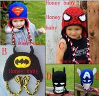 Cheap New Crochet SuperHero Baby Boys Girls Hats Crochet Pattern, Angry Sleepy Owl, Monkey, Elmo, Cookie Monster, Mickey Minnie, Beanie Cotton