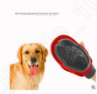 bath for dogs - Pet Grooming Glove Brush For Dogs Long Short Hair Mitt Bath Brush Comb Hair Removal Glove KKA15