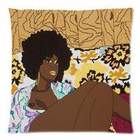 african hotels - Custom Cartoon African Woman Pillowcase x18 inch Zippered Pillow Cover